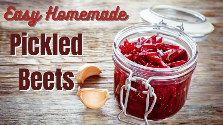 Easy Homemade Pickled Beets Recipe