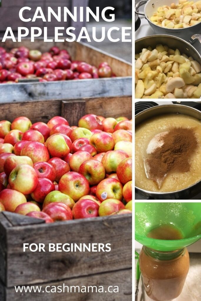 Canning Applesauce the easy way with only 4 ingredients! Try this tasty breakfast side dish. This easy applesauce recipe is perfect for water bath canning beginners.