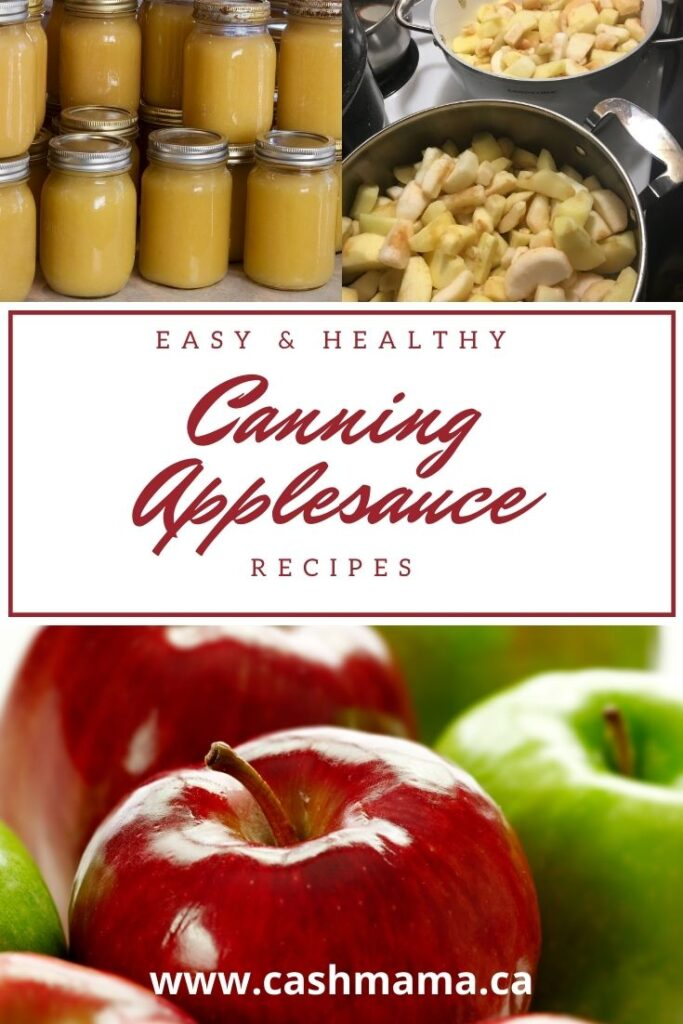 Canning Applesauce the easy way! Try this tasty breakfast side dish. This easy applesauce recipe is perfect for water bath canning beginners.